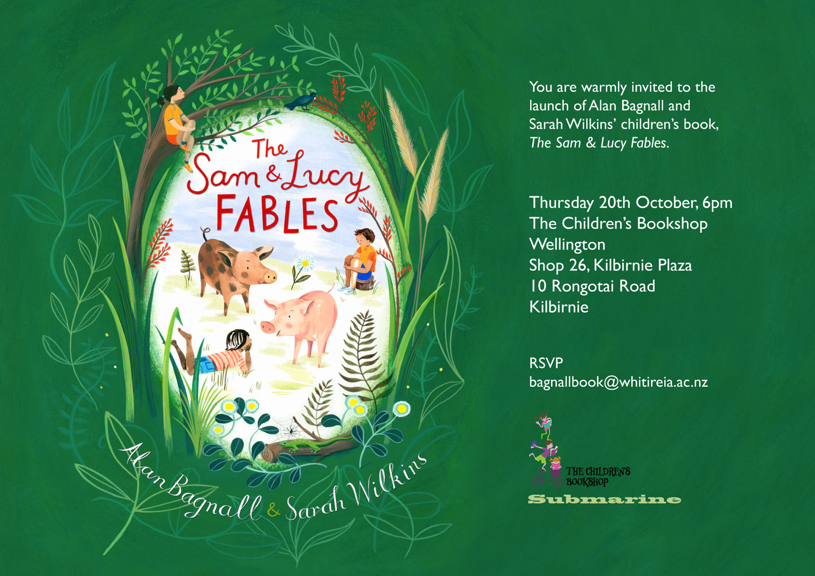 The Sam & Lucy Fables - Book launch invitation